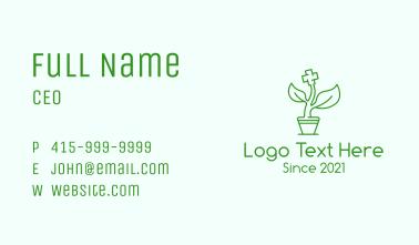 Green Cross Medicine Plant Business Card