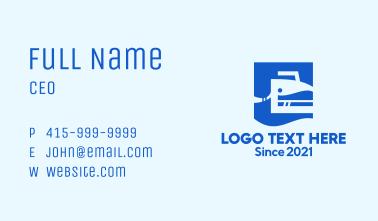 Blue Flat Iron Business Card