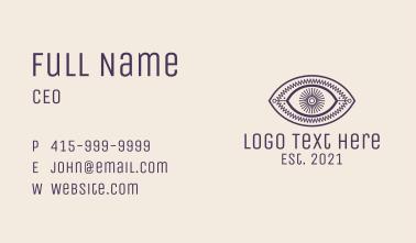 Aesthetic Tarot Eye Business Card