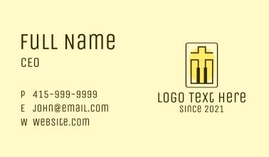 Crucifix Piano Keys Business Card