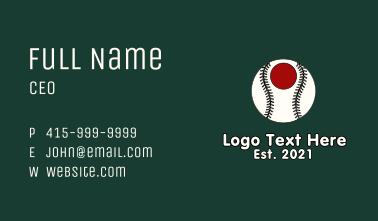 Japanese Baseball Team Business Card