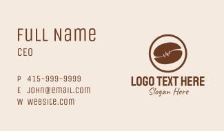 Brown Coffee Bean Farm  Business Card