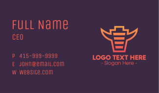 Full Charge Bull Business Card