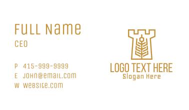 Golden Wheat Tower Business Card