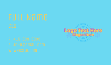 Glowing Pool Party Wordmark Business Card