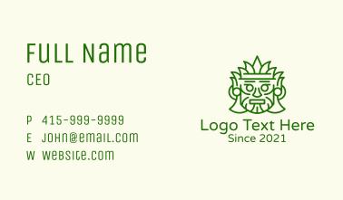 Aztec Leaf Mask Business Card