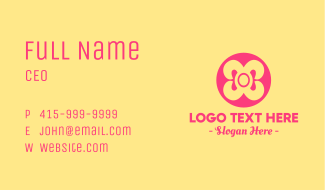 Simple Ribbon Button  Business Card