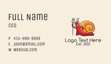 Demon Snail Mascot  Business Card
