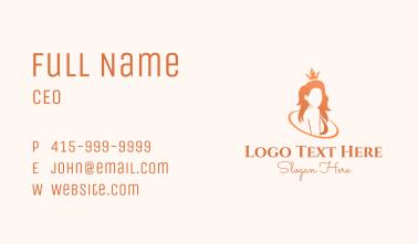 Beauty Queen Woman Business Card