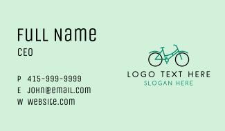 Teal Retro Bike  Business Card