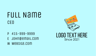 Retro Handheld Gaming Console  Business Card