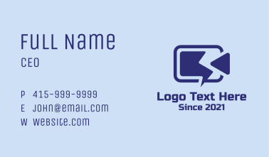 Video Camera Battery  Business Card
