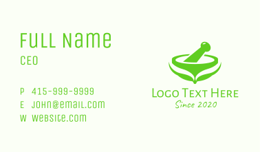 Green Traditional Medicine Business Card