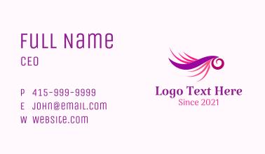 Stylish Eyelash Extension Business Card