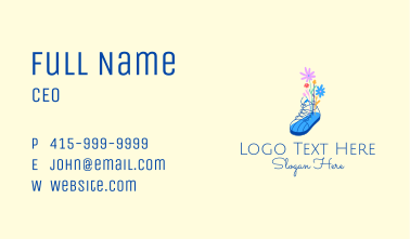 Flower Fashion Sneakers  Business Card
