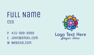 Baroque Flower Ornament  Business Card