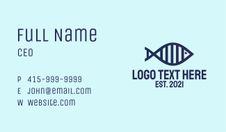 DNA Fish Outline  Business Card