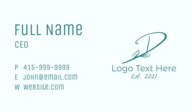 Green Vineyard Letter D  Business Card