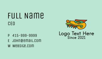 Multicolor Aztec Crocodile Business Card