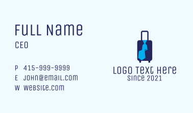 Business Travel Luggage Business Card