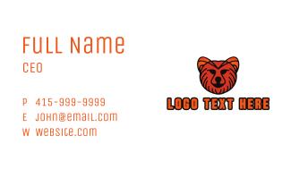 Orange Furry Cat Business Card