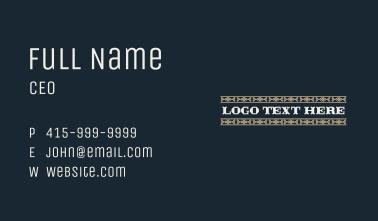 Retro Western Embroidery Wordmark Business Card