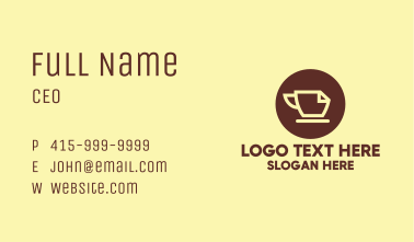 Office Coffee Cafe Business Card