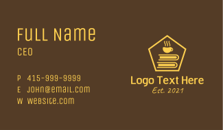 Coffee Bookworm Business Card