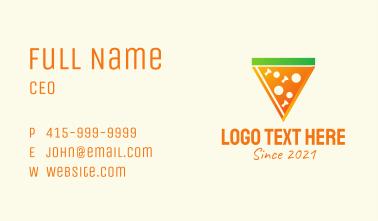 Pizza Slice Restaturant Business Card