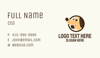 Happy Dog Character Business Card
