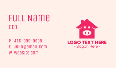 Pink Pig House Business Card