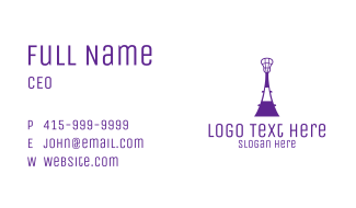 Lacrosse Tower Business Card