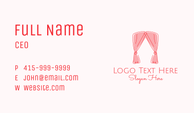 Pink Curtain Drapes Business Card