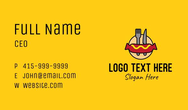 food store - Hot Dog Sausage Meal Business card horizontal design