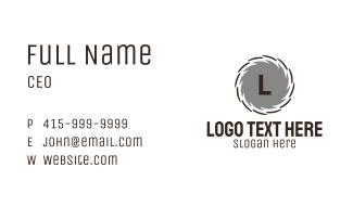 Circular Saw Lettermark Business Card