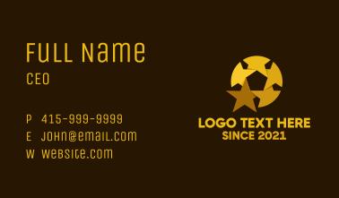Golden Star Ball Business Card