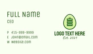 Green Energy Battery Egg Business Card