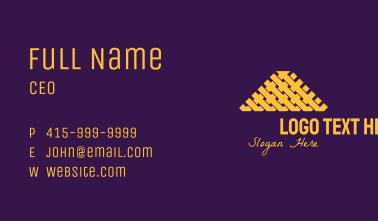 Elegant Triangle Weave Business Card