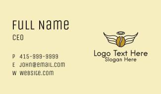 Angel Wings Coffee  Business Card