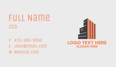 Modern Industrial Building  Business Card