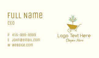 Plant Wheelbarrow Business Card