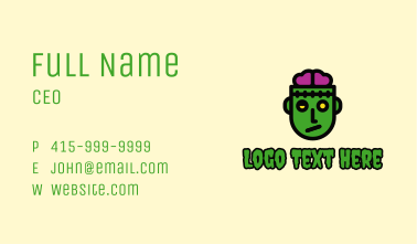 Zombie Brain Game Business Card