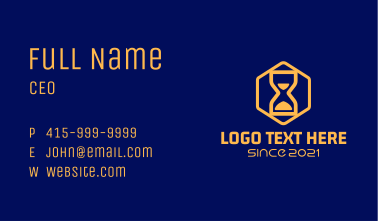Simple Hourglass Business Card