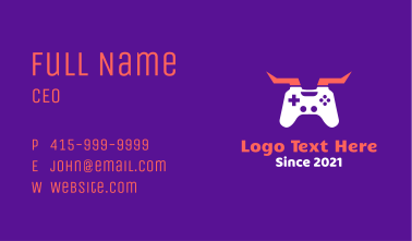 Horned Game Controller Business Card