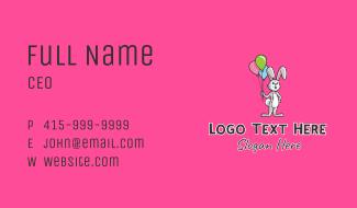 Balloon Rabbit Mascot  Business Card