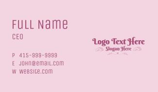 Stylish Fashion Wordmark Business Card