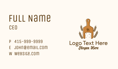 Fresh Wheat Loaf Bakery Business Card