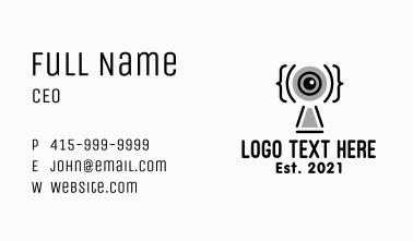 Webcam Online Class Business Card