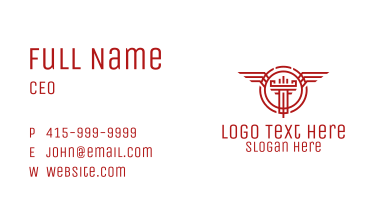 Wings Tower Emblem Business Card