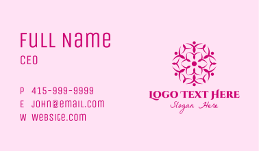 Pink Flower Spa Business Card